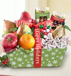 Fireside Holiday Fruit Basket