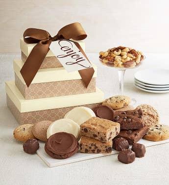 Sugar free gift baskets and diabetic desserts harry david cheryls enjoy classic gift tower sugar free negle Gallery