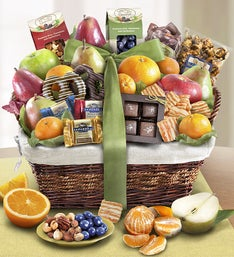 Distinctive Fruit  Sweets Gift Basket
