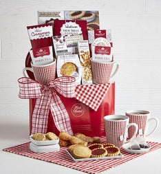Cafe De Paris Gift Basket with Mugs