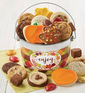 Cheryls Fall Enjoy Treats Bucket