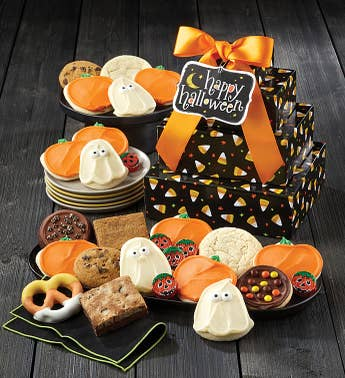 Cheryls Candy Corn Halloween Gift Tower