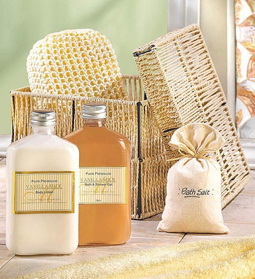 Vanilla Milk Bath & Body Gift Set