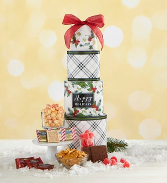 Seasons Best Holly Berry Gift Tower