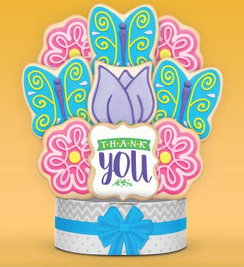 Thank You Butterfly Garden Cookie Bouquet