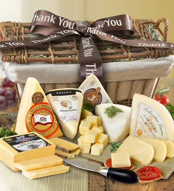 Thank You Premium Handcrafted Cheese Gift Basket