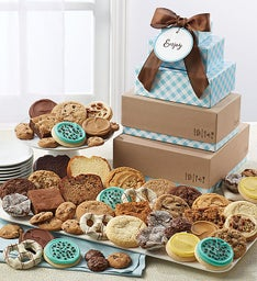 Cheryl39s Bakery Gift Tower with Message Tag