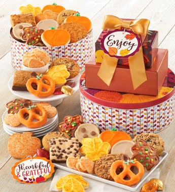 Fall Gift Tin Tower