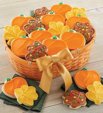 Buttercream Frosted Cut-out Gift Basket - 20 Cookies