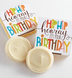 Gluten Free Hip Hip Hooray Birthday Cookie Card
