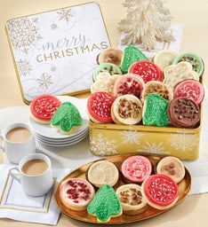 Premier Merry Christmas Gift Tin - Frosted