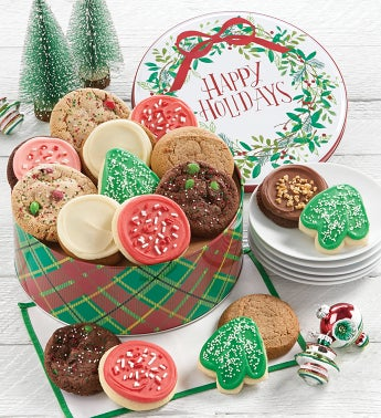 Happy Holidays Gift Tin - Holiday Assortment
