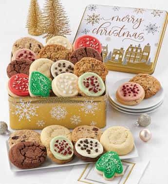Premier Merry Christmas Gift Tin Assorted Cookies