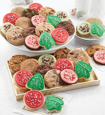 Bow Gift Box  Classic Holiday Cookie Assortment