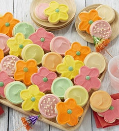Buttercream Frosted Fruit and Flower Cookies