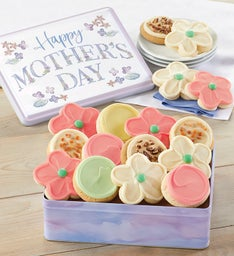 Mothers Day Gift Tin Buttercream Frosted Cut Outs