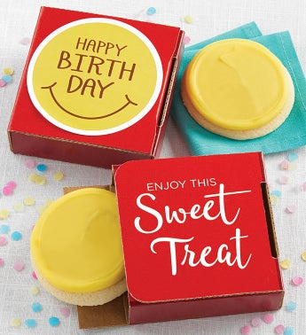 Happy Birthday Smile Cookie Card