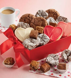 Valentine Cookie and Truffle Gift Basket