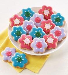 Mini Flower Crunchy Sugar Cookies