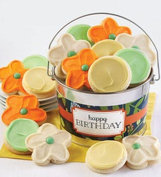 Happy Birthday Botanical Cookie Pail