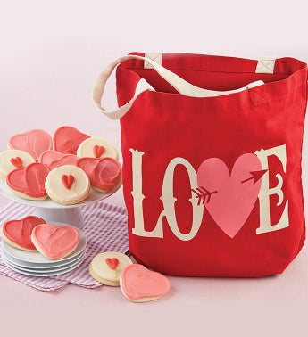 Love Tote with Cookies