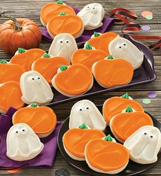 Ghost and Pumpkin Cutout Cookies