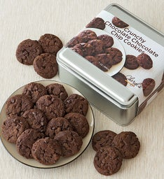 Chocolate Chocolate Crunchy Cookies