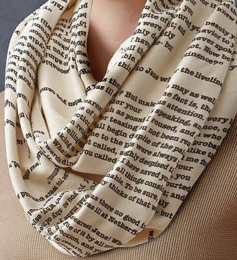 Literary Infinity Scarf