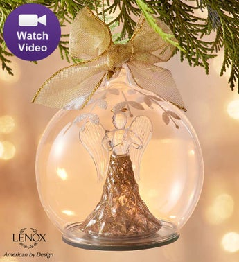 Lenox Holiday Angel Lit Color Changing Ornament