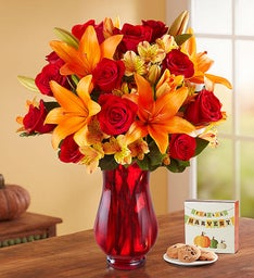 Elegant Autumn Rose & Lily Bouquet