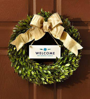 Real Simple® Personalized Wreath for All Seasons