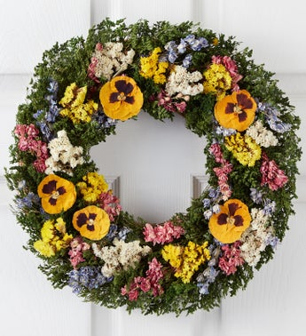 Preserved Pansy Wreath - 16