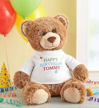 "Personalized Tommy Teddy™ ""Let's Celebrate!"""