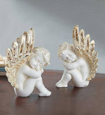 Golden Wings Angel Pair