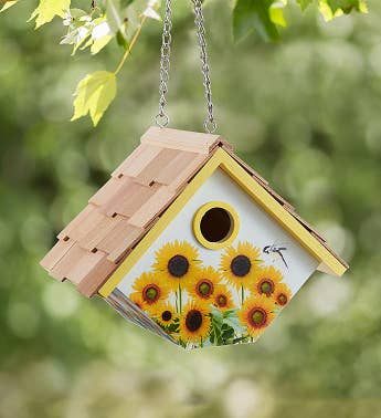 Sunflower Birdhouse