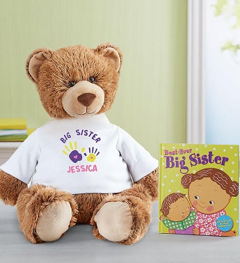 Personalized Tommy Teddy Big Sister Celebration