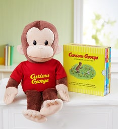 Gund® Curious George and Story Book Collection