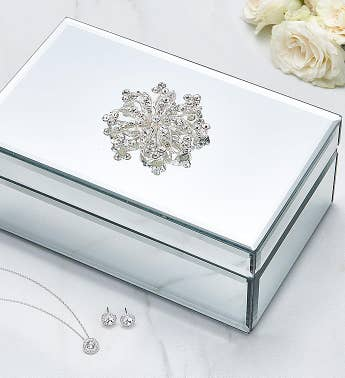 Mirrored Jewelry Box with Swarovski® Set
