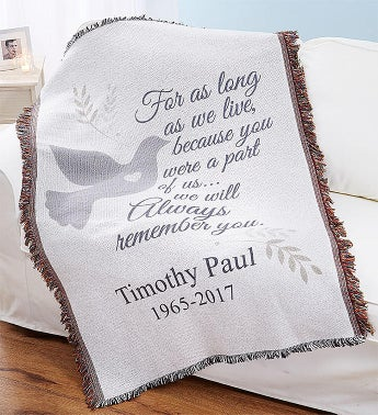 Personalized Sympathy Throw Blanket