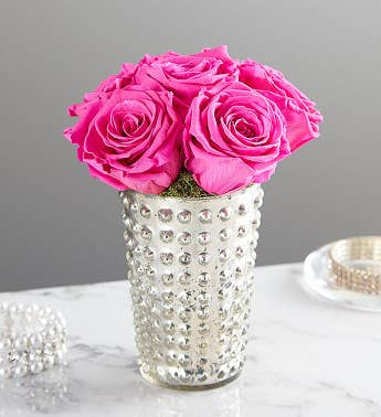 Preserved Pink Roses by Luxe Bloom® - Medium