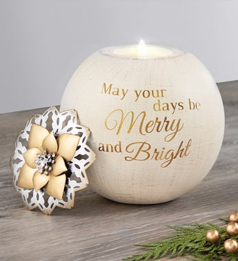 May Your Days Be Merry And Bright Candle