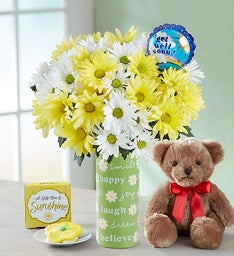 Get Well Daisy Bouquet