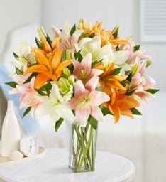 Vibrant Summer Lily Bouquet + Free Vase