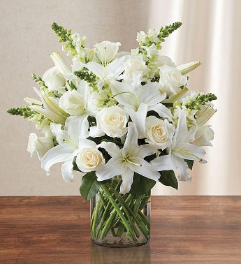 Classic All White Arrangement™  for Sympathy