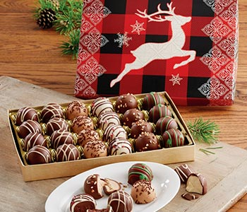 Indulge in truffles made with our delicious chocolate blend