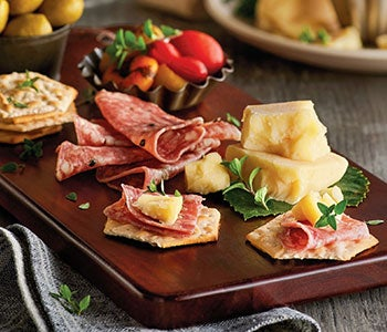 Savory meat & cheese selections