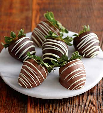 Belgian Chocolate-Covered Strawberries - 6 pieces