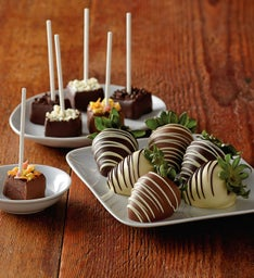 Chocolate-Covered Strawberries and Brownie Bites