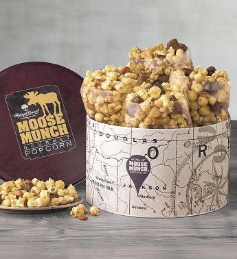Classic Moose Munch174 Premium Popcorn Tin