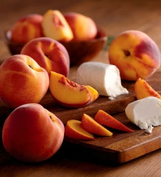 Oregold® Peaches and Laura Chenel Honey Chèvre